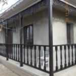 Balustrada exterioara din lemn masiv de brad