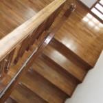 Balustrada din lemn masiv de fag interior