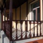 Terasa din lemn acoperita , esenta brad , finisaj exterior