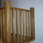 Balustrada din lemn moderna de stejar