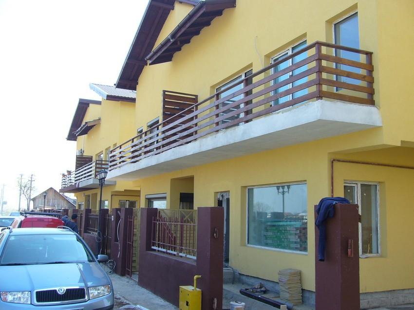 balustrada de exterior din lemn