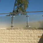 Balustrada exterioara sticla si inox