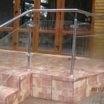 Balustrada exterioara din inox cu sticla