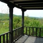 Balustrada lemn grinzi lemn exterioare