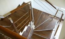 Balustrada din inox cu lemn