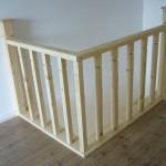 Balustrada din lemn brad interioara