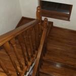 Placare scari lemn stejar pe beton Bacau