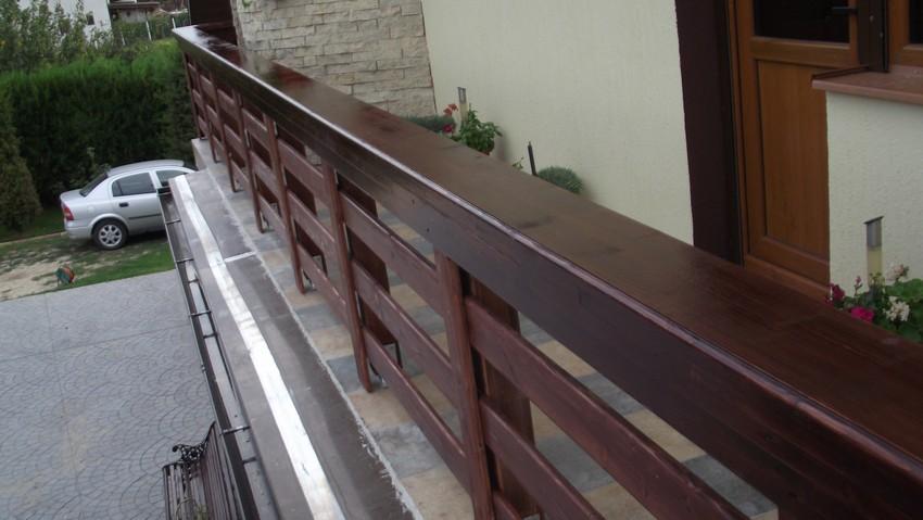balustrada lemn exterior