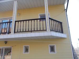 Balustrada lemn exterior Cernavoda