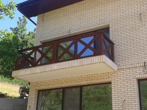 Balustrada exterior lemn
