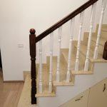 Balustrada lemn alba Tunari