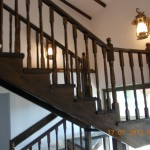 Balustrada din lemn de brad