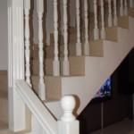 Balustrada din lemn stejar, finisaj alb