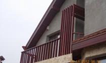 balustrada exterioara din lemn