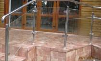 balustrada exterioara inox sticla