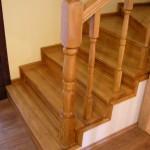 Placari scari lemn masiv de beton