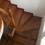 Scari lemn stejar cu balustrada