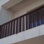 Balustrada exterior lemn stejar