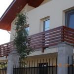 Balustrada exterior lemn brad Bucuresti