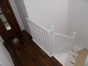 Balustrada lemn Bucuresti finisaj alba